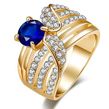 للمرأة خاتم خاتم البيان كريستال أسود أخضر أزرق راتينج كروم أخرى مخصص ترف تصميم فريد كلاسيكي قديم حجر الراين بوهيميان أساسي بيان المجوهرات
