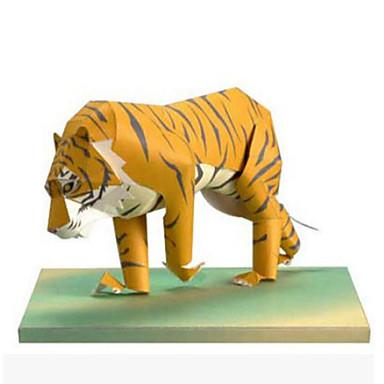 3D - Puzzle Papiermodel Modellbausätze Papiermodelle Spielzeuge Quadratisch Tiger 3D Tiere Heimwerken Simulation Unisex Stücke
