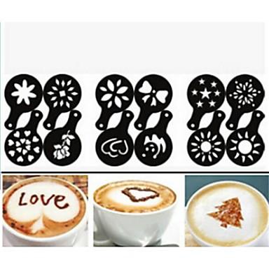1pc Edelstahl Kaffee Stencil Manuell . 13.0*8.5*0.5