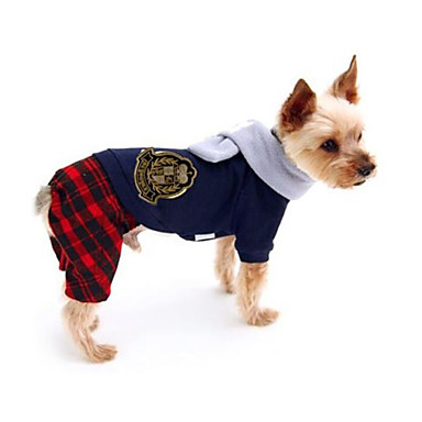 Hund Overall Hundekleidung Britisch Baumwolle Kostüm Für Haustiere Herrn Damen Lässig / Alltäglich