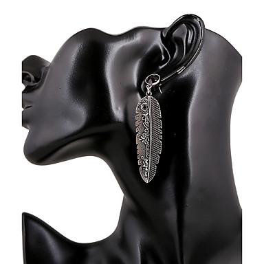 Damen Ohrstecker Tropfen-Ohrringe Kreolen Retro Euramerican Modisch Metalic Viskose Metal Aleación Geometrische Form Rechteck Schmuck