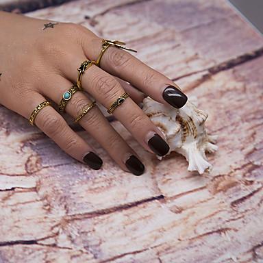 Dames Bandringen Ring manchet Ring Meetkundig Vintage Modieus Euramerican Metaallegering Hars Metaal Legering Cirkelvorm Geometrische vorm