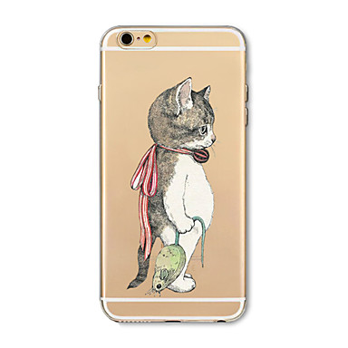 Maska Pentru Apple iPhone X iPhone 8 Plus Transparent Model Capac Spate Pisica Animal Moale TPU pentru iPhone X iPhone 8 Plus iPhone 8