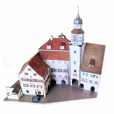 قطع تركيب3D نموذج الورق أشغال الورق مجموعات البناء قصر بناء مشهور معمارية اصنع بنفسك كلاسيكي للجنسين هدية