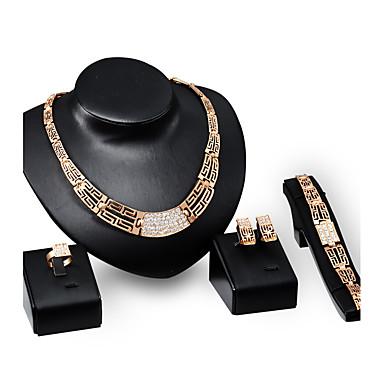 Pentru femei Seturi de bijuterii Ștras Personalizat Lux Vintage Modă Euramerican Bijuterii Statement Petrecere Ocazie specială Logodnă