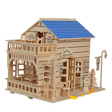 قطع تركيب3D تركيب تركيب خشبي الخشب نموذج ألعاب بناء مشهور بيت معمارية Other 3D اصنع بنفسك خشب الخشب الطبيعي غير محدد قطع