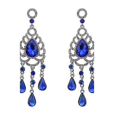 Dames Aanbiddelijk Tupsu / Oversized Drop Synthetische Diamant / Bergkristal Kristal / Strass Druppel oorbellen - Gepersonaliseerde /