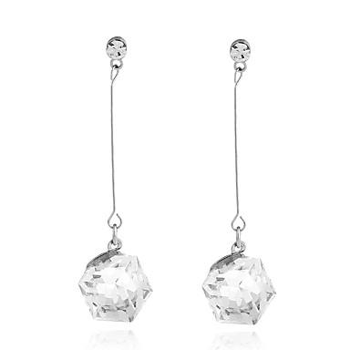 Dames Druppel oorbellen Kristal Hangende stijl Ijzerlegering Geometrische vorm Sieraden Voor Dagelijks gebruik Causaal Toneel