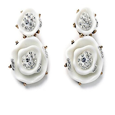 Damen Ohrstecker Strass Modisch individualisiert Simple Style Aleación Blumenform Schmuck Für Party Sonstiges Zeremonie Bühne Verabredung