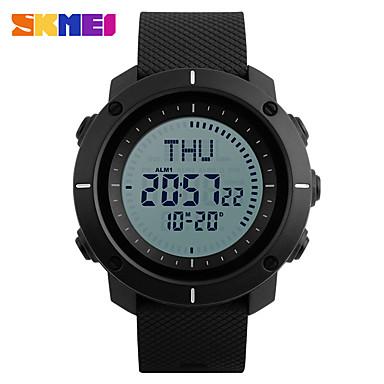 SKMEI للرجال ساعة رياضية ساعة رقمية رقمي PU فرقة أسود أخضر رمادي