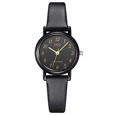 Casio Damen Modeuhr Armbanduhr Armbanduhren für den Alltag Japanisch Quartz Wasserdicht Caucho Band Bequem Elegante Schwarz