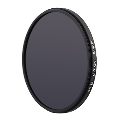 Andoer 77mm nd1000 10 stopfader neutrale dichtheidsfilter voor Nikon Canon DSLR camera