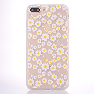 hoesje Voor Apple Mat Doorzichtig Patroon Achterkantje Bloem Zacht TPU voor iPhone 7 Plus iPhone 7 iPhone 6s Plus iPhone 6 Plus iPhone 6s