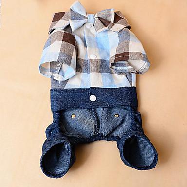 كلب T-skjorte ملابس الكلاب جينزات قطن كوستيوم للحيوانات الأليفة صيف للرجال للمرأة كاجوال/يومي