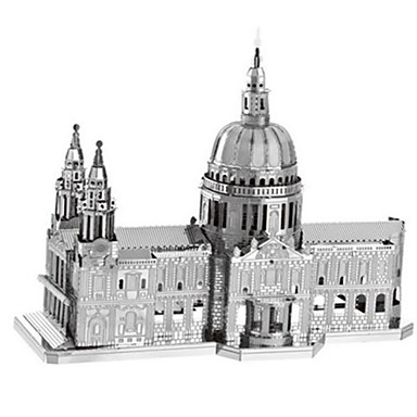 Jucării pentru mașini Puzzle 3D Puzzle Puzzle Metal Dreptunghiular Rezervor Castel Clădire celebru Instrumente Muzicale Arhitectură 3D