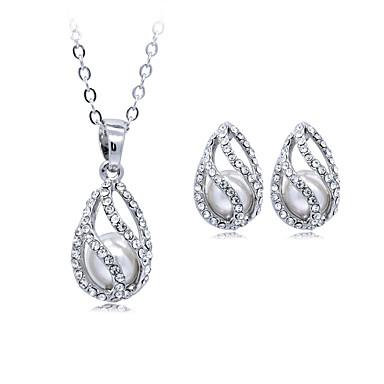 Pentru femei Coliere cu Pandativ Cristal Imitație de Perle Γεωμετρικά Design Circular Stil Atârnat Clasic Vintage Ajustabile Nuntă