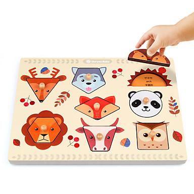 Montessori Lernspielzeug Bausteine Holzpuzzle Steckpuzzles Mathe-Spielzeug Bildungsspielsachen Bildung Quadratisch Kinder Jungen Geschenk