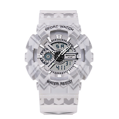 SANDA Heren Polshorloge Smart horloge Militair horloge Modieus horloge Sporthorloge Japans Digitaal LED s Nachts oplichtend Fitness