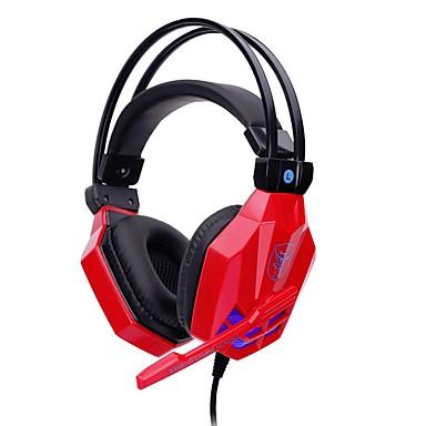 soyto SY850MV-R Stirnband Mit Kabel Kopfhörer Dynamisch Kunststoff Spielen Kopfhörer Mit Lautstärkeregelung Mit Mikrofon Stereo Headset