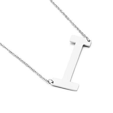 للرجال للمرأة قلائد الحلي Alphabet Shape الفولاذ المقاوم للصدأ الصداقة موضة مجوهرات الأولية مجوهرات من أجل حزب عيد ميلاد هدية