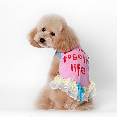 Hond Jurken Gilet Hondenkleding Casual/Dagelijks Letter & Nummer Blauw Roze Kostuum Voor huisdieren