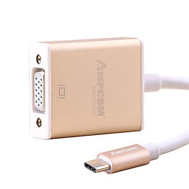 VGA Type-C USB kabeladapter 1080P High-Speed Voor Huawei Xiaomi Macbook 15 cm Aluminium
