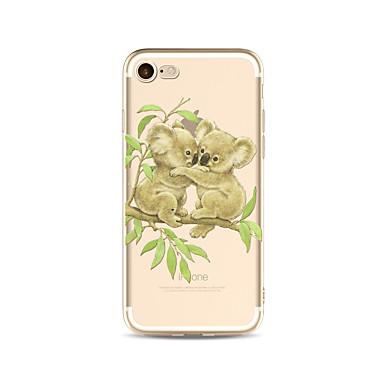 Maska Pentru Apple iPhone X iPhone 8 Plus Transparent Model Capac Spate Desene Animate Animal Moale TPU pentru iPhone X iPhone 8 Plus