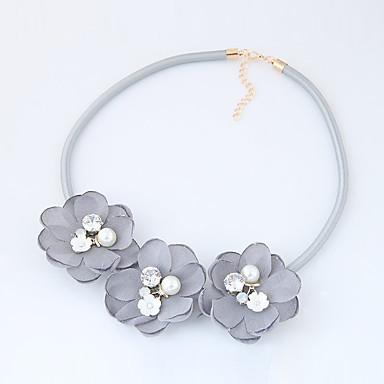 Damen Modisch Euramerican Halsketten Stoff Aleación Halsketten . Modisch Euramerican Alltag Normal