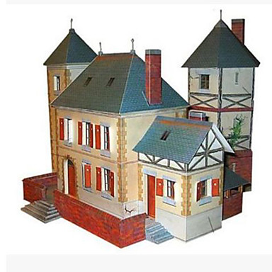 Puzzle 3D Lucru Manual Din Hârtie Pătrat Casă Simulare Reparații Hârtie Rigidă pentru Felicitări Băieți Unisex Cadou