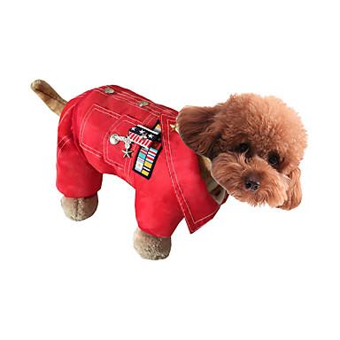Hond Jumpsuits Hondenkleding Casual/Dagelijks Sterren Koffie Rood Groen Blauw