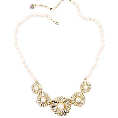 Damen Ketten Statement Ketten Imitierte Perlen Kreisform Aleación Luxus Einzigartiges Design Künstliche Perle Schmuck Für Hochzeit Party