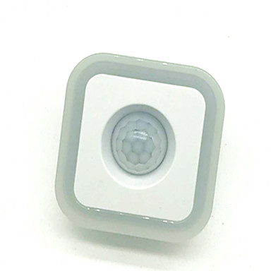 1pc Wand Plug Nachtlampje Menselijke lichaamsensor LED