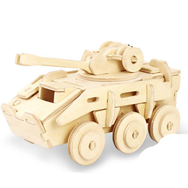 3D - Puzzle Holzpuzzle Metallpuzzle Holzmodelle Modellbausätze Panzer 3D Heimwerken Holz Naturholz Klassisch Unisex Geschenk