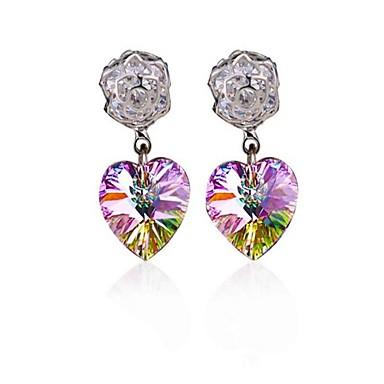 للمرأة أقراط الزر مجوهرات تصميم بسيط سبيكة Heart Shape مجوهرات من أجل زفاف مناسبة / حفلة يوميا