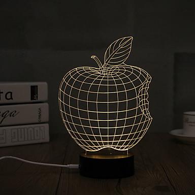 1set 3D Nightlight USD Decorativ Artistic / LED