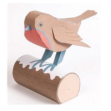 3D-puzzels Bouwplaat Papierkunst Modelbouwsets Vogel 3D Dieren Simulatie DHZ Klassiek Unisex Geschenk