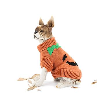 كلب البلوزات ملابس الكلاب Halloween قرع أصفر