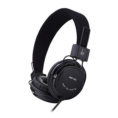 JKR 101 على الاذن عقال سلكي Headphones كهرباء بلاستيك الهاتف المحمول سماعة HIFI عزل الضوضاء سماعة
