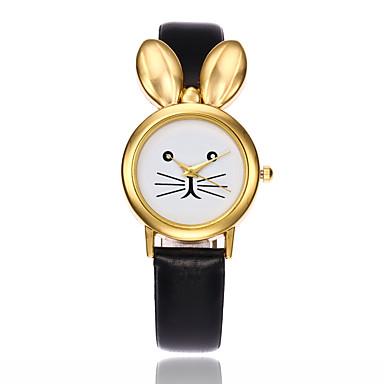 Damen Quartz Armbanduhr Chinesisch Schlussverkauf PU Band Kreativ Einzigartige kreative Uhr Elegant Modisch Schwarz Weiß Rot Braun Lila