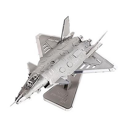 3D - Puzzle Holzpuzzle Metallpuzzle Modellbausätze Flugzeug Berühmte Gebäude Architektur 3D Heimwerken Aluminium Metal Klassisch Unisex