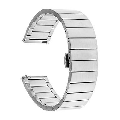 voordelige Smartwatch-accessoires-Horlogeband voor Gear S3 Frontier / Gear S3 Classic / Gear S3 Classic LTE Samsung Galaxy Butterfly Buckle Roestvrij staal Polsband