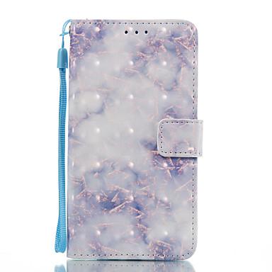 Pentru huawei p10 lite p8 lite (2017) caz acoperire albastru model 3d pictat card stent portofel telefon caz pentru galaxie p8 lite p9