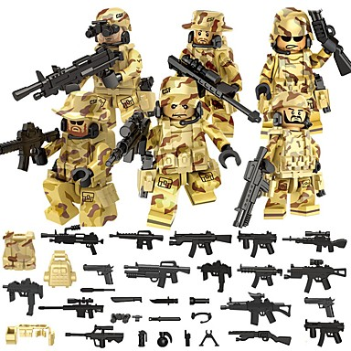 DILONG أحجار البناء شخصيات صغيرة ألعاب تربوية ألعاب محارب العسكرية ABS غير محدد الأطفال قطع