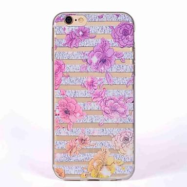 hoesje Voor Apple iPhone 7 Plus iPhone 7 Transparant Patroon Achterkant Bloem Zacht TPU voor iPhone 7 Plus iPhone 7 iPhone 6s Plus iPhone