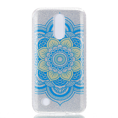 Hülle Für LG IMD Muster Rückseitenabdeckung Mandala Lace Printing Weich TPU für LG K10 (2017) LG K8 (2017)
