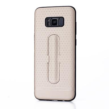 Hülle Für Samsung Galaxy S8 Plus S8 mit Halterung Rückseite Volltonfarbe Hart PC für S8 Plus S8