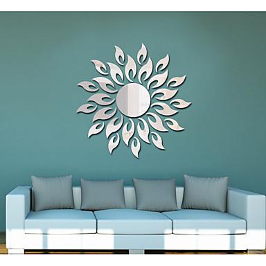Romantiek Vormen Abstract Muurstickers Spiegel muurstickers Decoratieve Muurstickers,Acryl Materiaal Huisdecoratie Muursticker