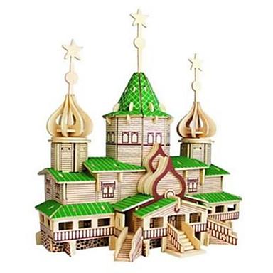 3D-puzzels Legpuzzel Houten puzzels Houten modellen Modelbouwsets Beroemd gebouw Huis Architectuur Overige 3D DHZ Hout Natuurlijk Hout