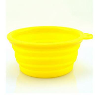 L Hund Schalen & Wasser Flaschen Haustiere Schüsseln & Füttern Tragbar Schwarz Orange Gelb