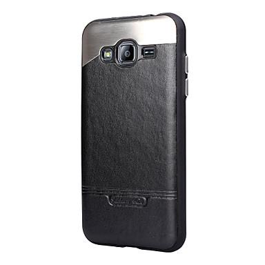 Hoesje voor Samsung Galaxy J3 J3 (2016) hoesje bedekking achterkant hoesje vaste kleur hard metal